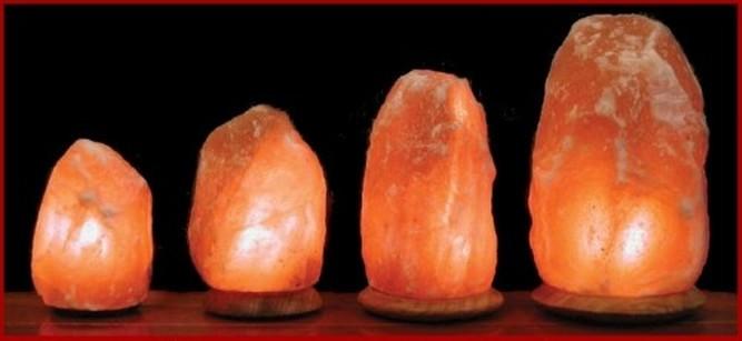 Lampade di sale Himalayano con base