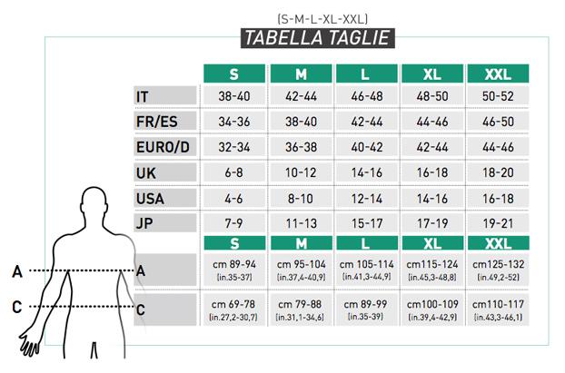 3618046abb6f59 Assicurati sempre, quindi, di scegliere la misura più adatta a te  consultando le seguenti tabelle. Nel caso la vostra misura fosse nel mezzo  tra due taglie, ...